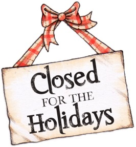 Closed for the Holidays Graphic
